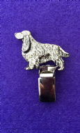 Dog Show Breed Ring Number Clip -  Spaniel (Cocker) - FULL BODY Silver or Gold Style